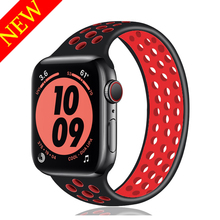 Solo Loop strap for Apple Watch Band 44mm 40mm iwatch band 38mm 42mm Elastic Silicone bracelet apple watch series 6 se 5 4 3
