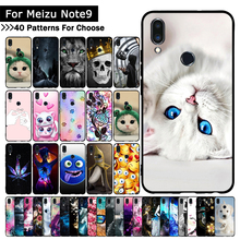 Ultra-thin Soft TPU Silicone Case For Meizu Note 9 Cat Animal Printed