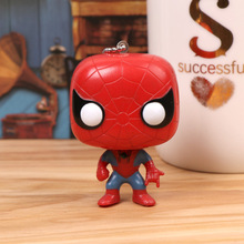 Bags Pendant Accessories Spider-Man Keyring Creative Cute Us Superman Keychain Craft Marvel Hero Big Head Iron Man Key Chain