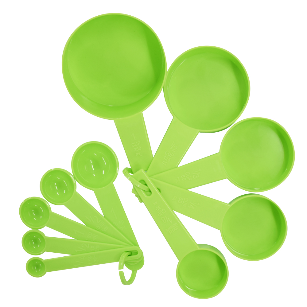 10pcs 7 Color Measuring Cups And Measuring Spoon Scoop Silicone Handle Kitchen Measuring Tool FreeShipping 3