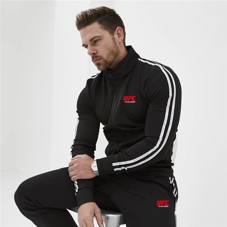 New 2 Pieces Autumn Running Tracksuit Men Sweatshirt Sports Ufc Set Gym Clothes Men Sport Suit Training Suit Sport Wear