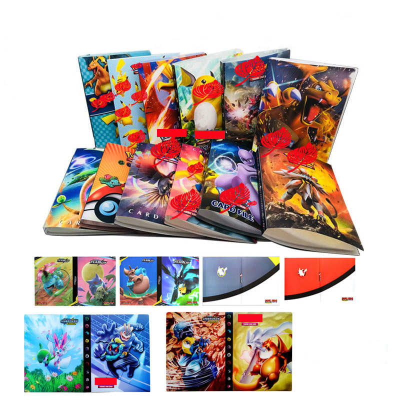 240PCS New Pokemon Duel Monsters Dragon Ball Pocket Monster Cardbook Pet Elf Collection Cardbook Game Collection Cards
