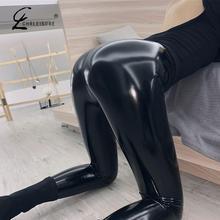 Black Leather Leggings Pu High Waist Velvet Leggings Pants Women Winter Leather Leggings Women Velvet Warm Legging