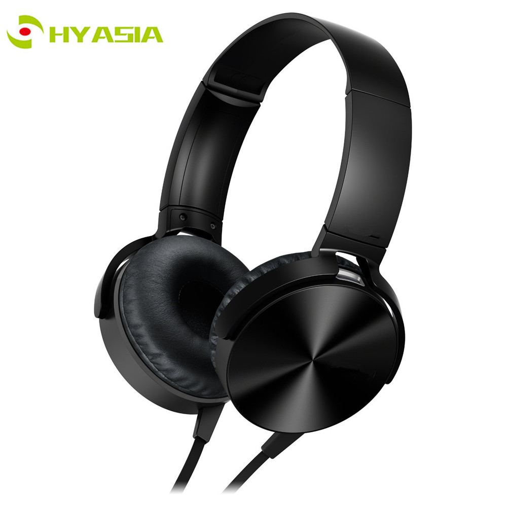 HYASIA 3.5mm Wired Headphone Earphone Headset with Mic Noise Cancellation Corded Headphones Earphones for SONY Mobile PC XB450