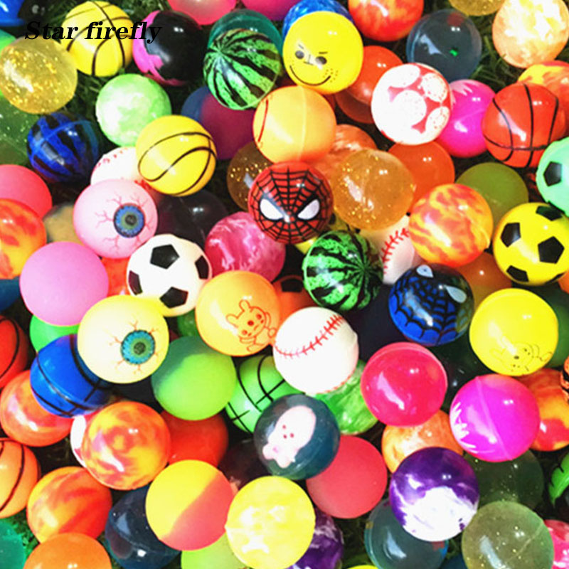 10pcs/lot Bouncy Ball Random Color Toy Ball Mixed Bouncy Ball Child Elastic Rubber Ball Toys For Kids