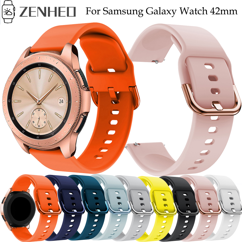 20mm Watchband For Samsung Galaxy Watch Active 2 Silicone Strap For Samsung Galaxy Watch 42mm Bracelet For Huami Amazfit GTS