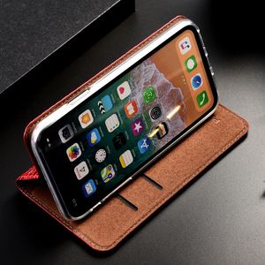 Image 4 - Luxo crocodilo genuíno caso de couro da aleta para apple iphone 11 pro max negócios telefone celular capa carteira