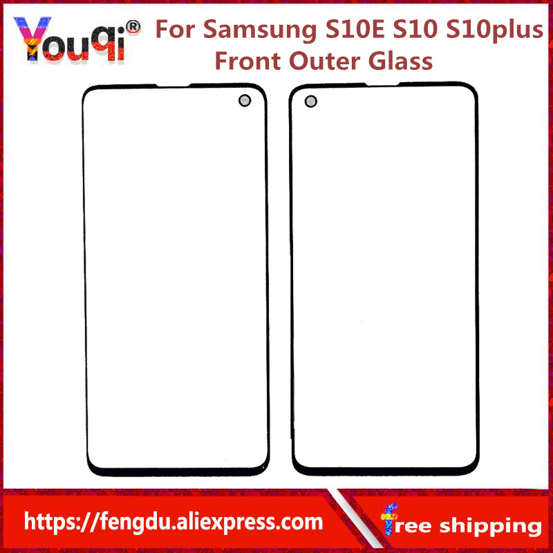 S10E S10 S10 Plus Front Outer Glass Lens Cover replacement For Samsung Galaxy S10e s10plus note8 note9 LCD glass