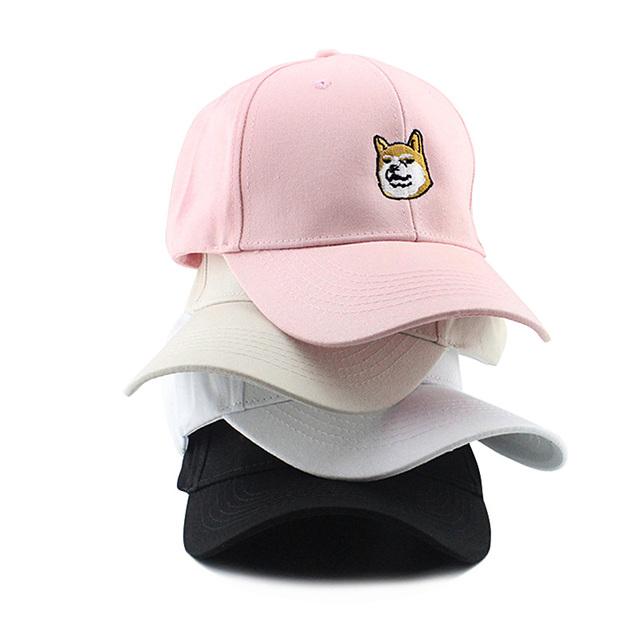 Casual Cotton Dog Printed Cap