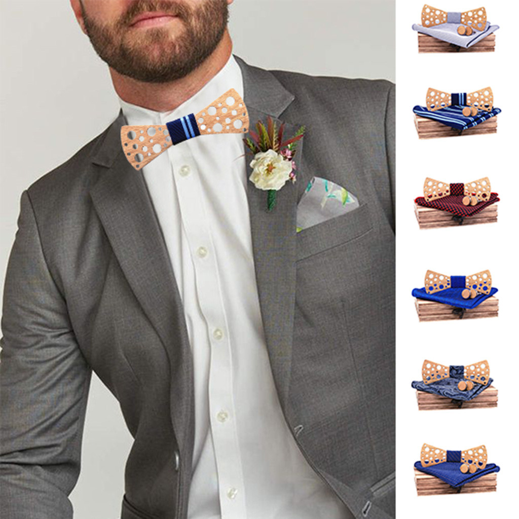 Bow Tie Men's Fashion Engraving Round