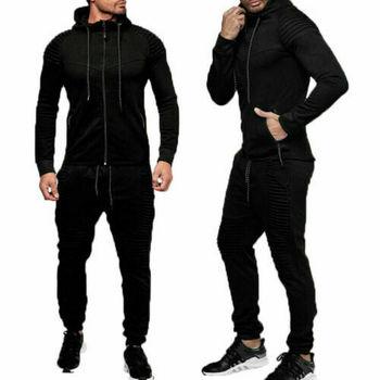Hirigin 2 pieces Autumn Running tracksuit men Sweatshirt Sports Set Gym Clothes Men Sport Suit Training Suit Sport Wear 3