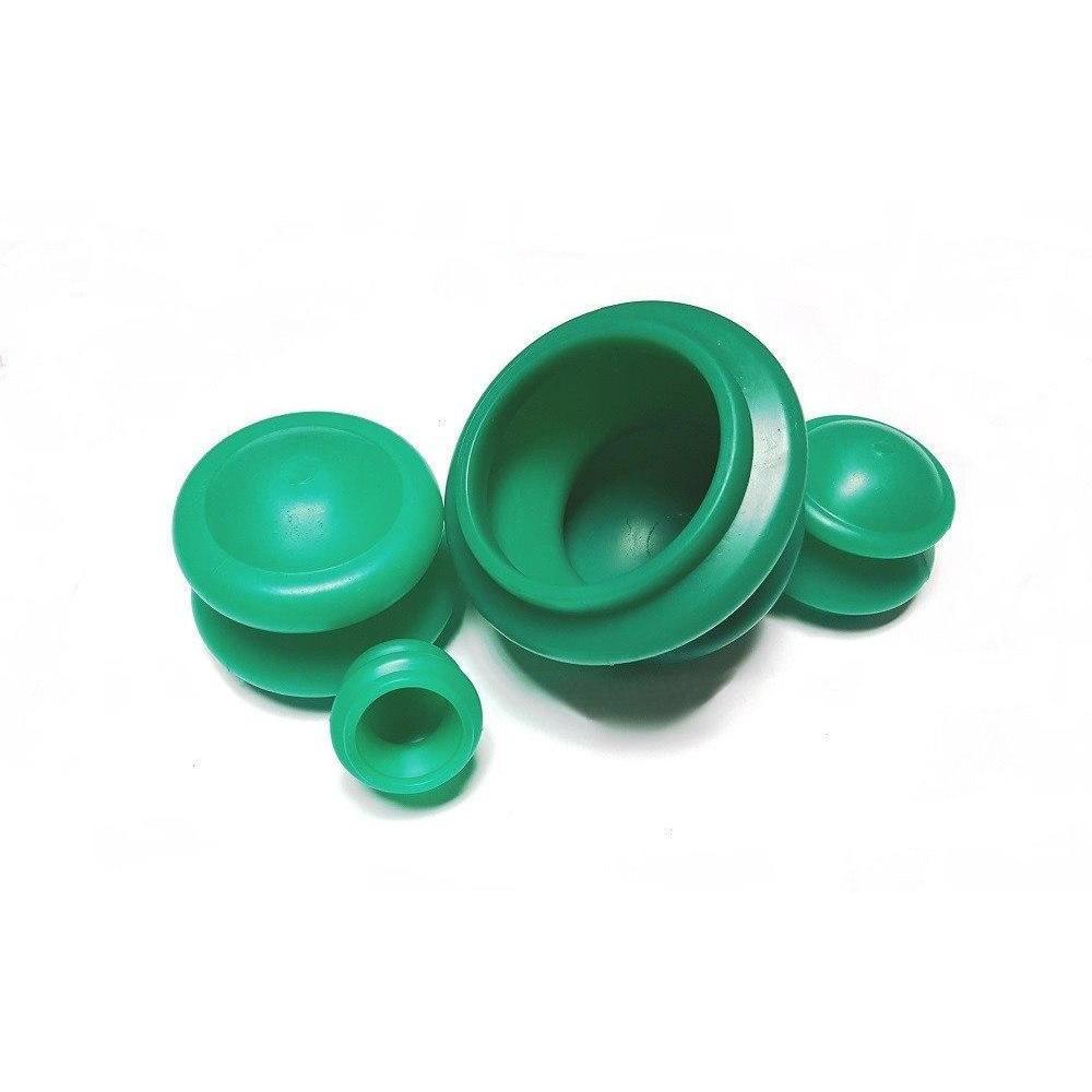 Массажные банки для вакуумного массажа - антицеллюлитные - из гипоаллергенной резины 4 шт - My Rules