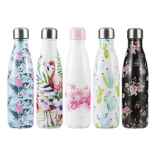 Flamingo Crystal Water Bottle Sport Thermos Water+Bottles Coffee Mug Tumbler Insulated Tea Cup