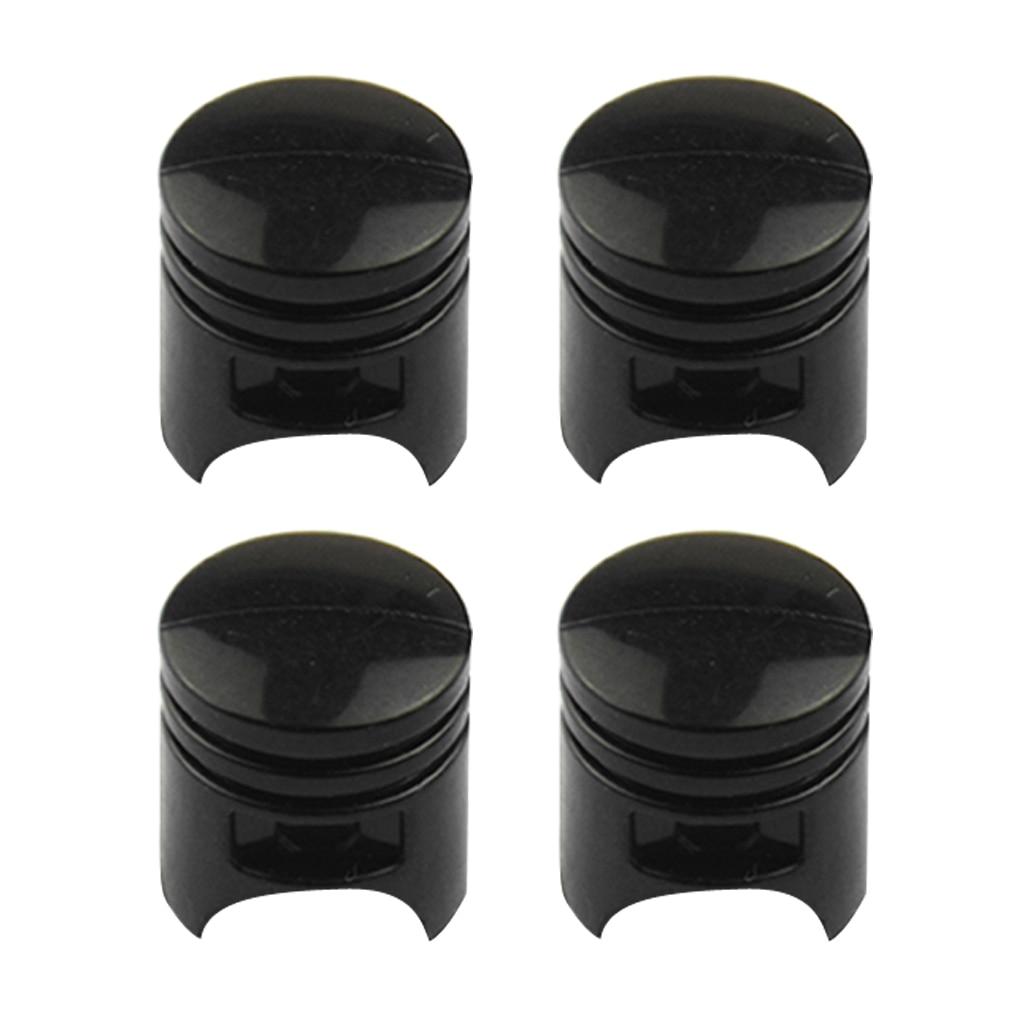 4 Pack Piston Style Tire Rim Valve Wheel Air Port  Stem Caps