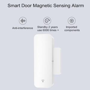 Image 3 - ACCKIP inteligentny czujnik do okien drzwi kieszonkowy rozmiar inteligentne zestawy do domu System alarmowy praca z aplikacją Tuya