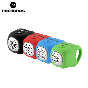 Image 1 - ROCKBROS Electric Cycling Bell 90 dB Waterproof Button Cell MTB Bicycle Handlebar Horn Silica Gel Shell Ring Bell Bike Accessory