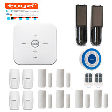 Tuya APP remote control WiFi GSM smart home security Alarm system voice control with Google home amazon alexa(China)