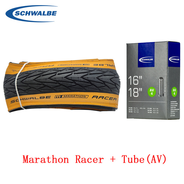 Schwalbe Marathon Racer 35-349 16x1.35  Foldable Skinwall Bike Tire 1 or 2 tires