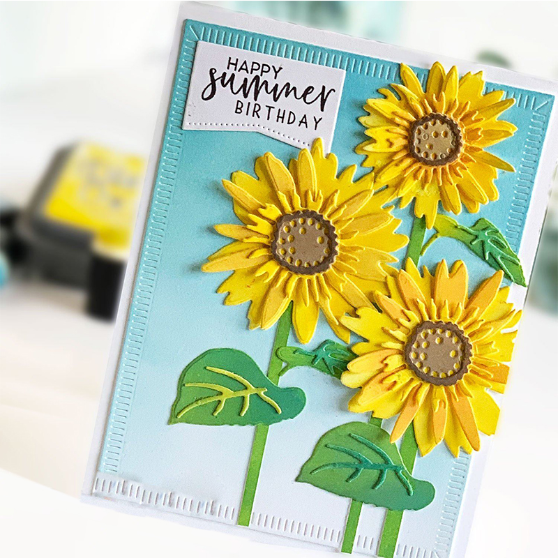 Vibrant Sunflower Summer Metal Cutting Dies for DIY Scrapbooking Album Embossing Paper Cards Making Crafts Supplies 2019