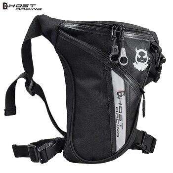 Bolsa de mano para motocicleta GHOST RACING, bolsa de mano para equipaje de viaje y motocicleta de cintura de caballero, bolsa lateral para motocicleta de carreras y Motocross