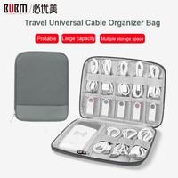 Bubm saco de armazenamento universal cabo organizador saco de viagem acessórios eletrônicos organizador para cabo  banco de potência  fone de ouvido fio  caneta|Sacos de armazenamento| |  -