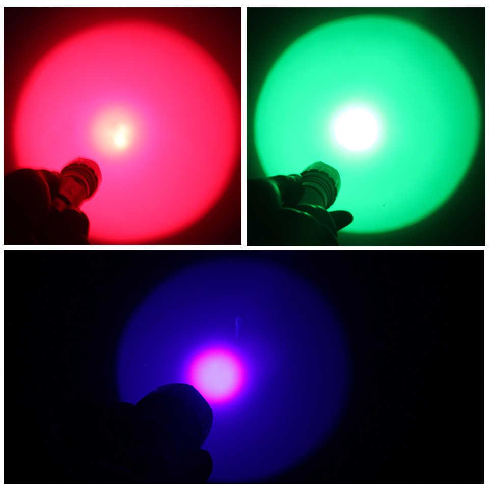 Luz de bicicleta linterna LED XM-L2 U3 T6 linterna 3000 lúmenes 18650 AAA batería para ciclismo blanco amarillo verde rojo luz uv