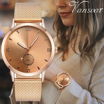 Vansvar luxury brand watches for women clock women Quartz Plastic Leather Band Analog female watch wristwatch horloge vrouw #N03 1