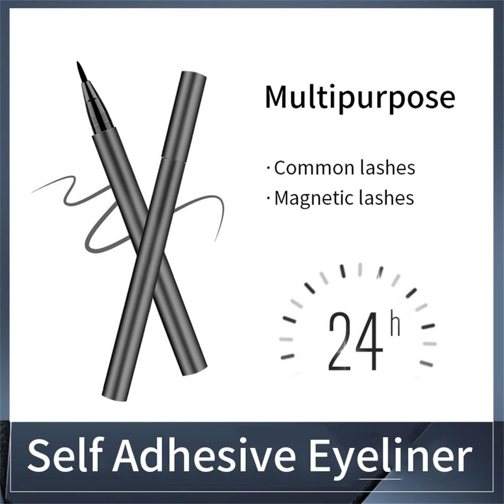 Self Adhesive Eyeliner Persistent Adhesion  Eyelashes Eyeliner 24h No Makeup Lashes Pen Eyes Maquiagem Profissional Completa