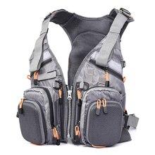 Blusea сетка рыболовный жилет Многофункциональный дышащий рюкзак рыболовный жилет быстросохнущая приманка катушка рыболовные снасти жилеты Pesca