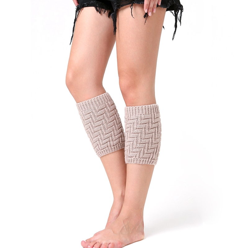 Leg Warmers Women Geometric Thermal Acrylic Boot Cuffs Socks Cover Winter Shoe Accessories Outdoor Activities Clothing