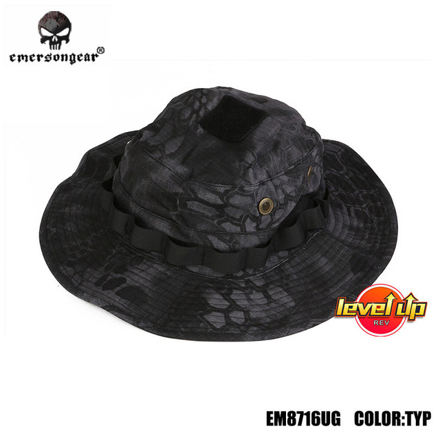 EMERSONgear version haut de gamme camouflage tactique boonie chapeau militaire tactique armée chapeau de chasse sport chapeau de soleil