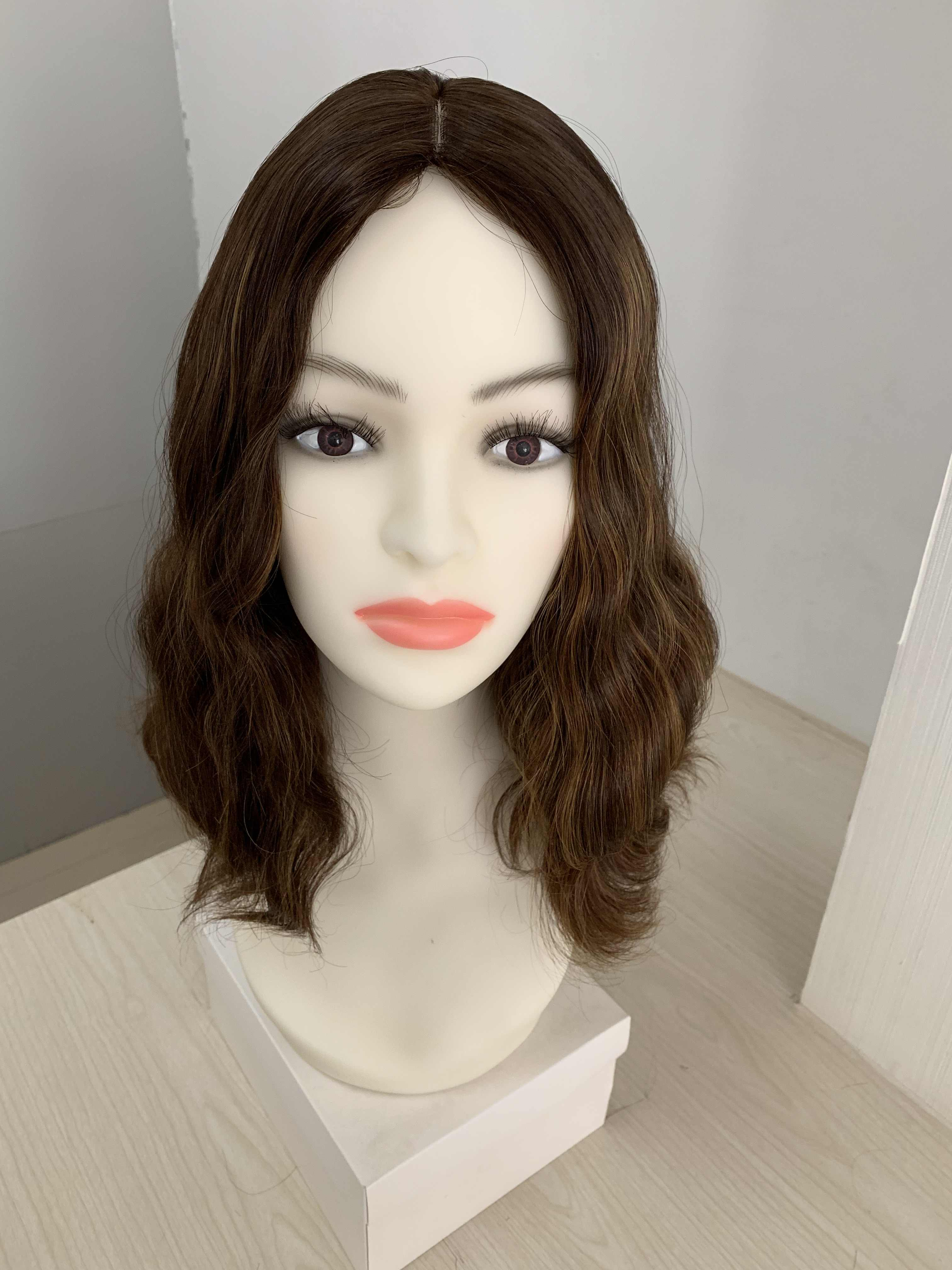 Tsingtaowigs Custom made naturalne włosy europejskiej nieprzetworzone włosy 14 cal BOB peruka żydowska najlepsze Sheitels peruki darmowa wysyłka