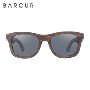 Image 4 - BARCUR نظارة شمسية خشبية الخيزران البني إطار كامل نظارات شمس بإطار خشبي الرجال الاستقطاب النظارات النساء خمر