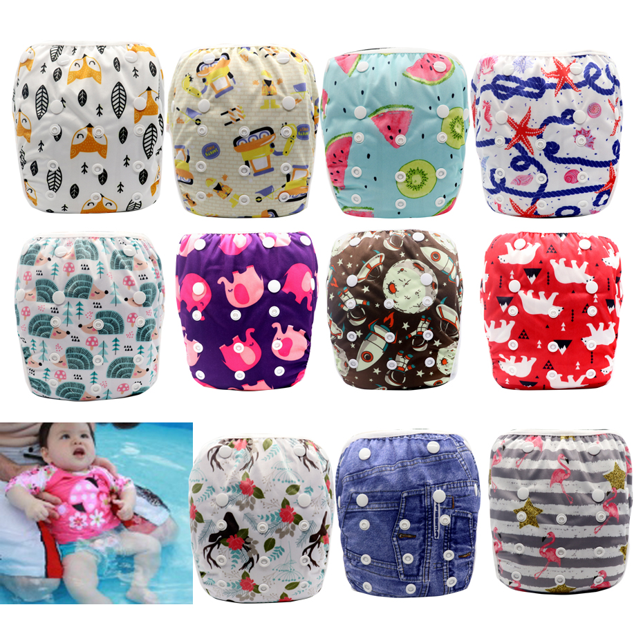 MABOJ Swim Diaper Reusable Cloth Swim Nappy Swimming Diaper Swimming Pool Pants Unisex Adjustable Washable Baby Nappies One Size