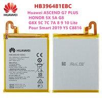 100% Orginal HB396481EBC Batterij Voor Huawei Ascend G7 Plus Honor 5X 5A G8 G8X 5C 7C 7A 8 9 10 lite Giet Smart 2019 Y5 C8816