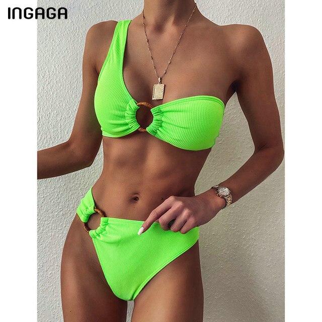 Ingaga Off Shoulder High Waisted Bikini 2