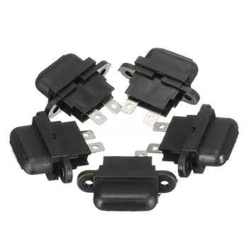 5Pcs 30A Amp Auto Blade Standard Fuse Holder Box Black Car Boat Truck Vehicle image