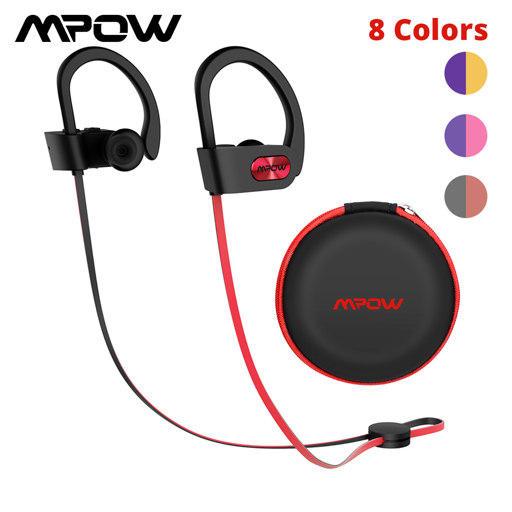 Original Mpow Flame Bluetooth Headphones HiFi Stereo Wireless Earbuds Waterproof Sport Earphones With Mic/Portable Carrying Case 1