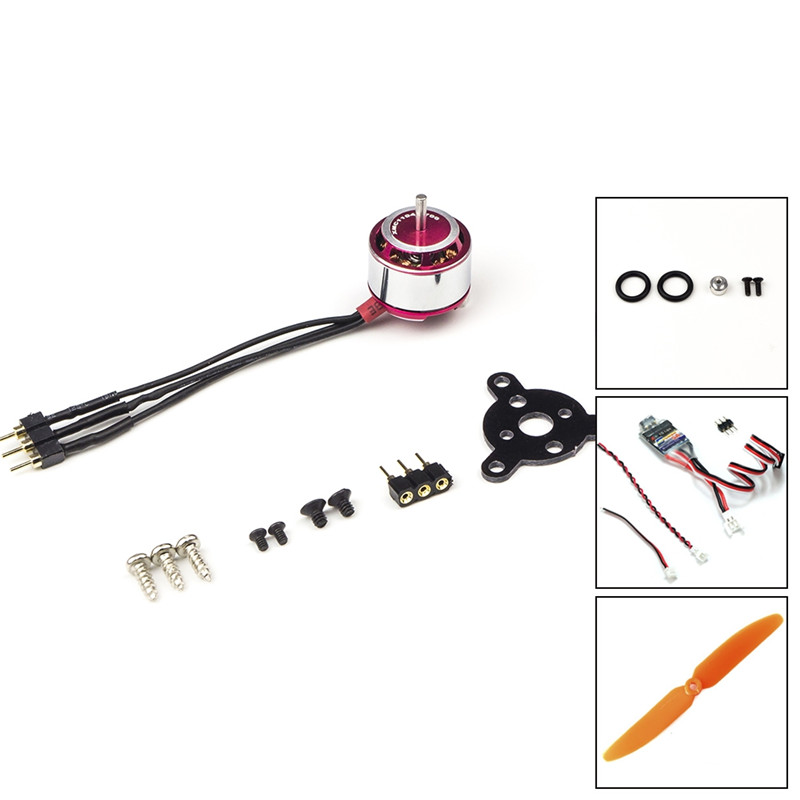 AEORC RC Power Combo MM1104H <font><b>1104</b></font> KV3700 3700KV Brushless <font><b>Motor</b></font> + 1s/2s 5A ESC+5030 Prop for RC Fixed Wing Airplane Plane image