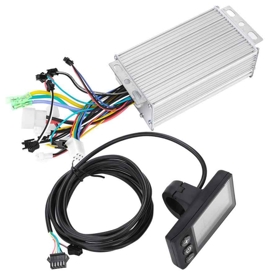 חשמלי Brushless בקר 24 V/36 V/48 V/60 V 500W Brushless Ebike בקר עם LCD תצוגת אופניים מנוע קטנוע בקר