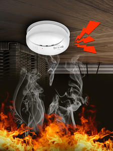 KERUI Alarm-Sensors Smoke-Detector Fire-Protection Our-Store Portable Home-Security Wireless