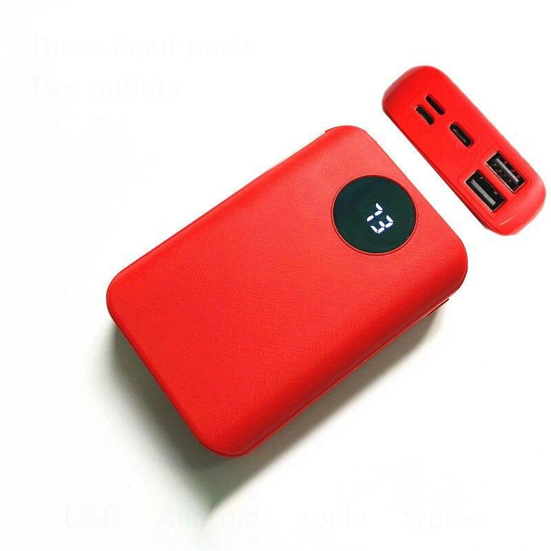 10000mAh DIY Power Bank Shell Case Charge Box 3*18650 LED Digital Display Poverbank 2 USB Micro Type-c Powerbank Shell