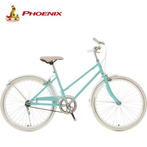 Mulheres da Cidade de Bicicleta Liga de Alumínio do Guiador da Bicicleta Velocidade de Aço de Alto Quadro de Bicicleta para a Mulher Phoenix Adulto Única Carbono 24