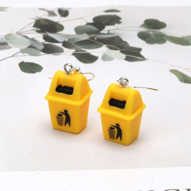 Trash Can Earrings