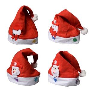 Image 5 - 2019 LED Leucht Weihnachten Hut Neue Weihnachten Dekorationen Kinder Erwachsene Hut Neue Jahr Urlaub Requisiten Partei Liefert