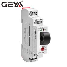 NEW GEYA GRI8-05 DC Current Relay straight-through 2A-20A AC24V-240V Over-current Under-current Protection Relay