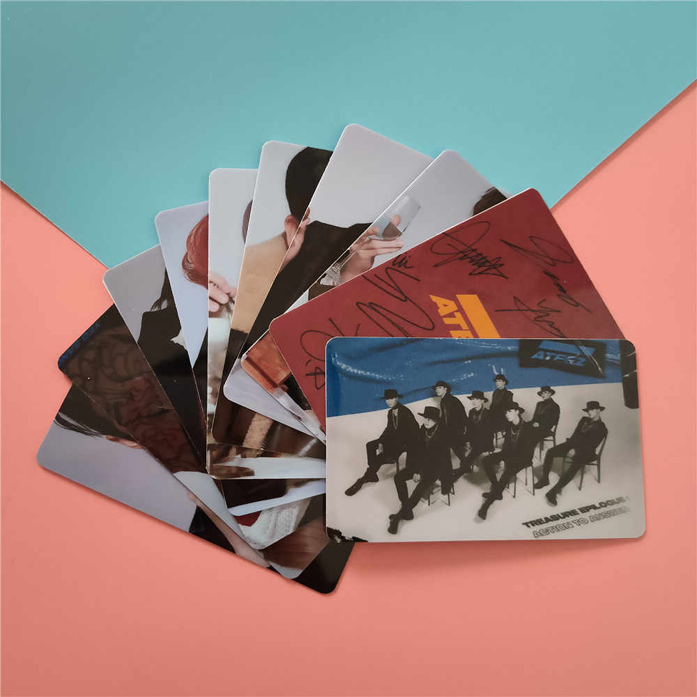 10pcs/set Kpop ATEEZ card stickers New album ACTON TO ANSWER kpop ateez photocard Crystal photo lomo Card stickers