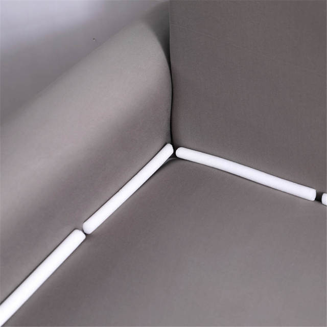 Style Simple élégant canapé couverture élastique pour salon solide gris foncé couleur coin canapé couverture mode avec drap oreiller