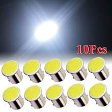 10 adet LED lamba 1156 BA15S P21W LED araba beyaz alüminyum 1156 lamba COB 12 SMD 12V düşük ısı üretimi yüksek yoğunluklu araba far