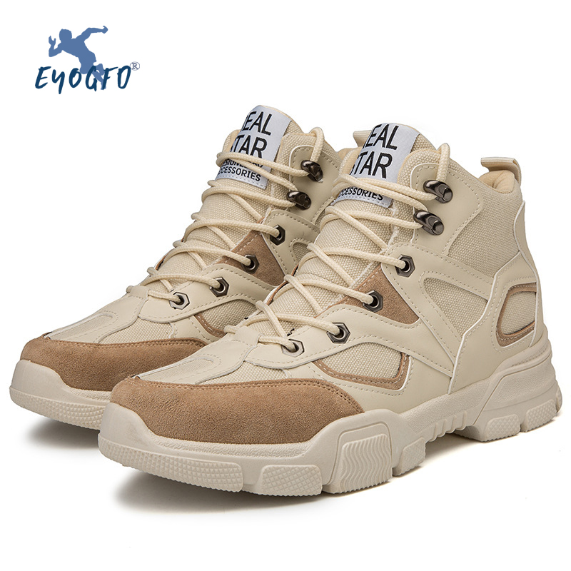 New Outdoor Men's Hiking Shoes Waterproof Breathable Tactical Combat Boots Desert Training Sports Shoes Non-slip Hiking Shoes